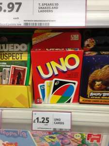 UNO card game only £1.25 Tesco instore