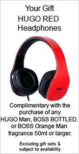Hugo Boss Red + Free Hugo Boss headphones with Purchase - £29.99 @ The Perfume Shop