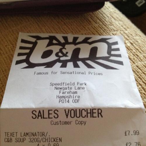 Texet laminator £7.99 B&M bargains