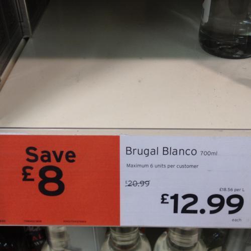 Brugal Blanco Especial Rum £12.99 @ sainsburys