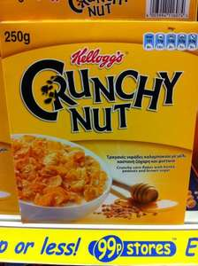 Kellog's Crunchy Nut 250gm for 99p @ 99p Stores