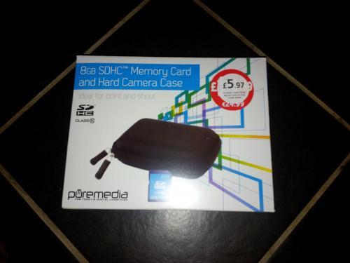 Puremedia 8 GB SDHC & Hard camera case £5.97 @ PCWorld