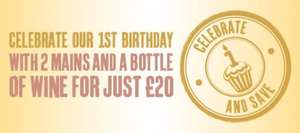 2 mains & a bottle of wine for £20? Let the celebrations begin at The Observatory!- Beefeater