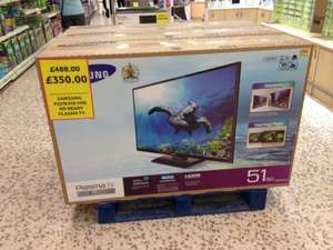 "Samsung 51"" PS51E450 Plasma HD Ready TV £350 @ Tesco"