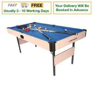Dunlop 6ft Foldaway Pool Table-£99.00 rrp £209.99 Sports Direct Free Delivery