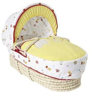 Mothercare Little Circus Moses Basket Half Price £22 + £2.95 delivery or free collect in store