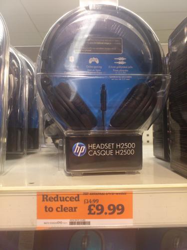 HP Headset H2500 £9.99 @ Sainsburys instore