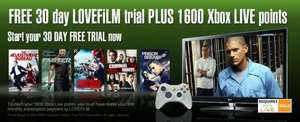 2 months Lovefilm & 1600 Xbox Microsoft Points £4.99