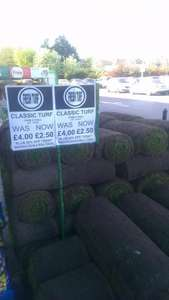 Homebase Garden Turf £2.00 at Ilford, Essex Seven Kings branch