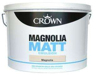 Crown Matt Emulsion 10L Magnolia or White £13.99 @ B&M