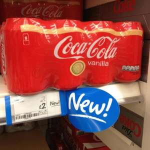 Vanilla coke ASDA £2 for 8cans. £1 for 1.5l bottle