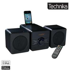 TECHNIKA MC1104IPH IPOD/IPHONE DOCKING HIFI WITH CD PLAYER, FM RADIO, AUX LINE IN, VIDEO LINE OUT - Brand New @ Tesco Outlet £22.98 inc delivery
