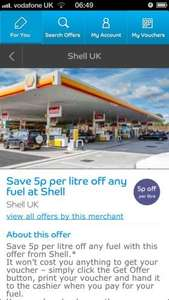 5p Off any grade fuel @ Shell Available to everyone  with Barclaycard Bespoke Offers