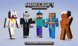 Free Minecraft xbox 360 birthday skins