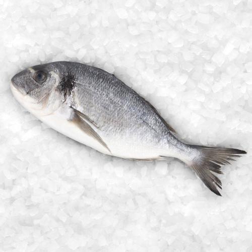 ASDA Whole Sea Bream , half price, £2 per fish ( 250gr)