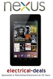 "ASUS GOOGLE NEXUS 7"" TABLET. Android 4.1 (Jelly Bean) 32GB REfurbished- £136.24 @ Electrical deals"