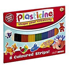 Plasticine Classic Colours 8-pack,  99p Click +Collect @ Sainsburys