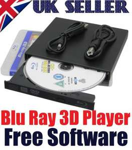 New USB 2.0 Slim External Blu Ray Drive Player BD ROM / DVD RW Burner Rewriter - eBay Tradezone UK - Click link in 1st post for updated price
