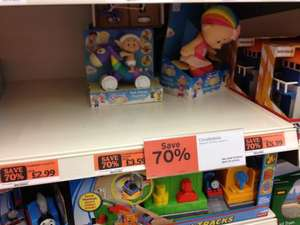 70% off selected Cloubabies Toys from £2.99... At Sainsburys In store