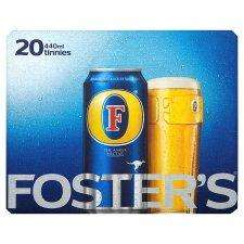 20 Cans of FOSTERS Lager only £12 @ Tesco