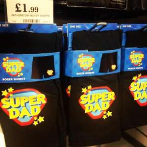 Super Dad Boxer Shorts  £1.99  at Home Bargains