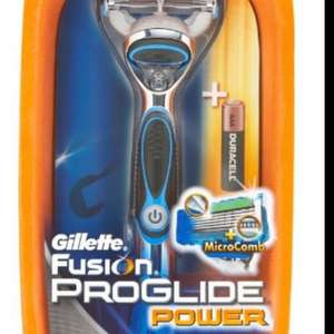 Gillette Fusion ProGlide Power Razor handle, including 1 blade and Duracell battery. £6 @ Amazon