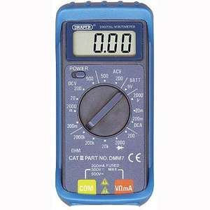 Draper Digital Multimeter 52320 - 16 Functions, Only £3.34 Click + Collect @ Asda