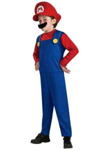 Children's Mario fancy dress outfit Size small only (aged 4-6) £6.33 delivered @ Amazon
