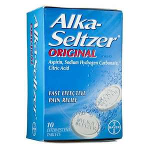 Alka Seltzer Aspirin (Hangover Cure) @ Poundland TEN Tablets for ONLY £1.00
