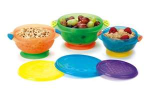 Munchkin Stay Put Suction Bowls (Pack of 3), £5.45 Delivered @ Amazon