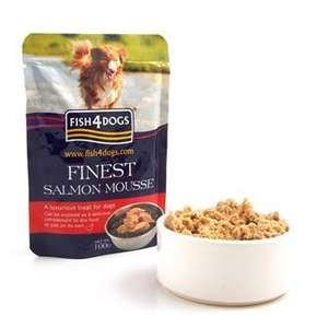 Salmon Mousse £25 for 48 pouches plus free delivery @ fish4dogs