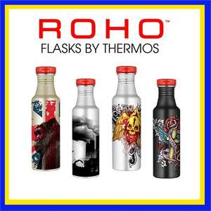 Thermos Roho Cool Flask - Stainless Steel - Various Designs for £2.49 + 99p Delivery @ brooklyn trading - £3.48
