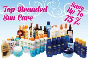 75% off on Top Branded Sun Care at Home Bargains, from £2.99, see post for details.