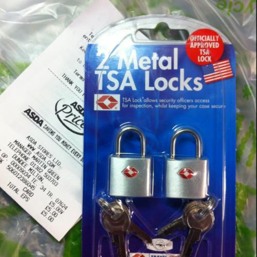 TSA suitcase padlock Pack of 2 £5 @ Asda instore
