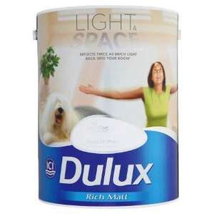 Dulux light and Space 5l absolute white £23.99 @ Tesco Direct