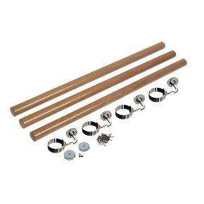 Richard Burbridge Round Staircase Handrail Kit White Oak 3.6m £99.99 @ Screwfix