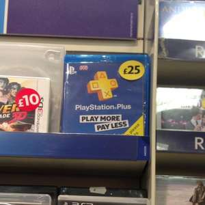 A Years Playstation Plus, £25 @ morrisons