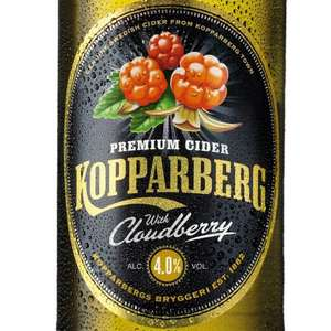 NEW FLAVOUR Kopparberg Cloudberry 500ML bottle £2.25 each OR 3 FOR £5 @ Tesco