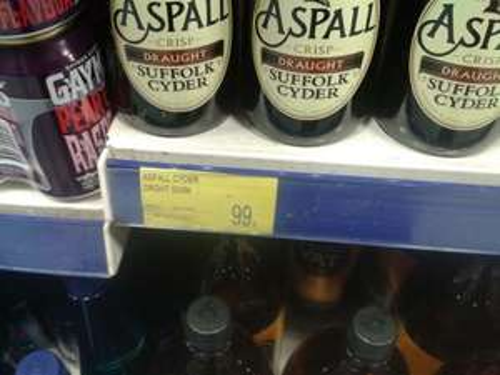 Aspall Cider 500ml Bottle £0.99 @ B&M