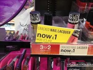 3 Gosh Crackle nail polishes for £2 at superdrug!!