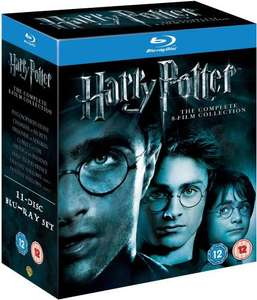 Harry Potter - The Complete 8-Film Collection [Blu-ray] [2011] [Region Free] Only £27.81 delivered from Amazon
