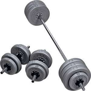 York 50kg Barbell/Dumbbell Weights Set £44.99 + 3.95 Del + Possible TCB @ Homebase