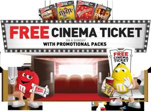 Sweet Sundays at Cineworld starts again from 7th June.  Collect 4 codes from M&Ms, maltesers pouches etc.