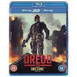 Dredd 2D/3D bluray £7 at Tesco direct