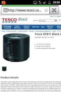 Tesco deep fat fryer £10 bargain