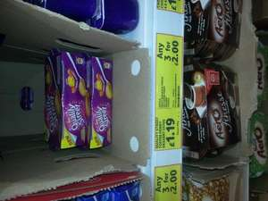 3 for £2 quality street, rolo, milky bar yoghurt @ tesco