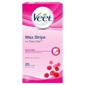 Veet Ready to Use Leg Wax Strips for Short Hair - Shea Butter & Berry - 20 Strips, £2.69 Delivered @ Amazon Using Sub + Save