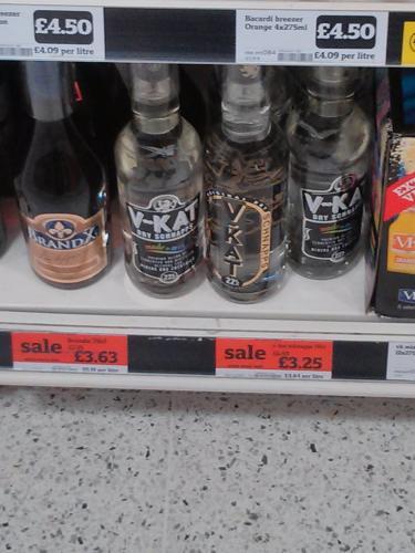 V - KAT dry schnapps £3.25 Sainsburys