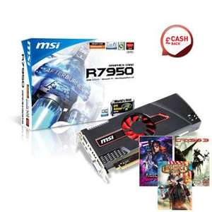 MSI Radeon HD 7950 OC +  Bioshock Infinite, Crysis 3 and Far Cry 3 Blood Dragon & £10 Cashback - £214.74 or £209.75*  @ Scan