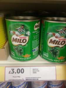 Nestle Milo Energy Cocoa Powder Drink 400g - Now £3.00 (Normal Price £3.99) @ Tesco